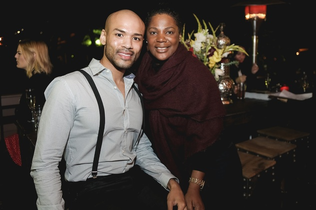 Chris Garcia and Toni Smith at the Page Parkes & Ruggles Black Holiday Soiree December 2014