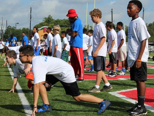 DJ Hayden Football Camp 2015 kids