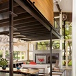Austin house home Houzz modern Lake Austin dining living room