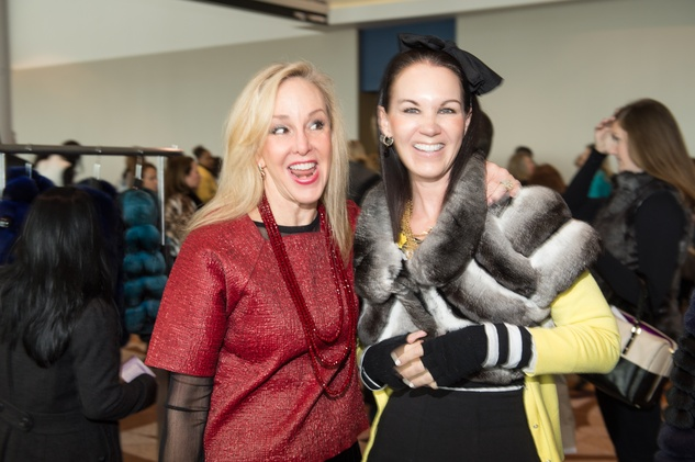 Sheree Frede, left, and Beth Muecke at the Nutcracker Market Saks luncheon and fashion show November 2014