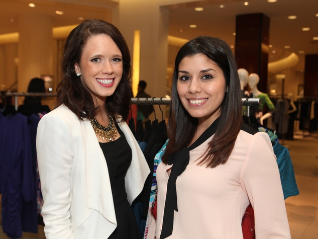 1 Colleen Fenton, left, and Cindy Castaneda at the Galveston Mardi Gras gown preview January 2014