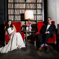 Bride and groom at W Austin