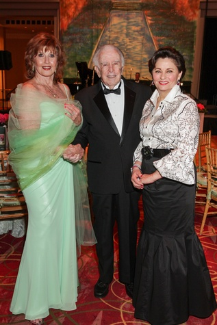 Eleanor Connan, Carlisle Floyd, Beth Madison, Moores School gala, March 2014
