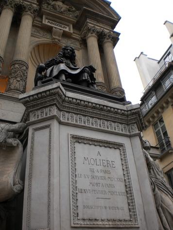 Moliere monument in Paris