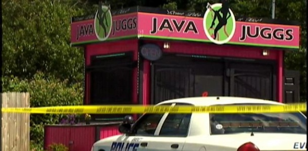 Java Juggs yellow tape