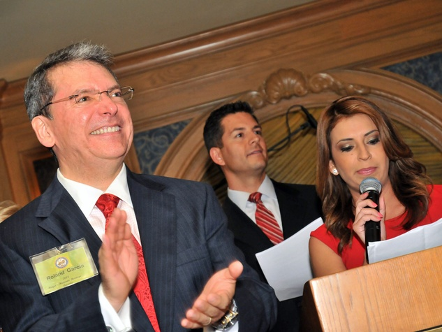 2012 Mayor's Hispanic Heritage Awards Ceremony, October 2012, Roland Garcia, Erik Barajas, Rebecca Suarez