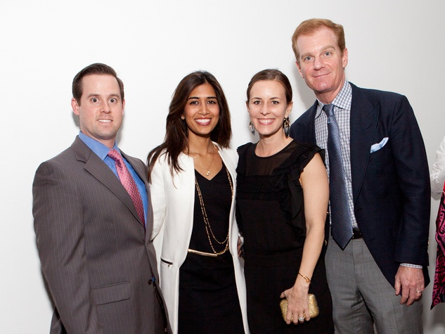 12 Chris and Divya Brown, from left, and Steve and Jen Dolman at the Menil Young Professionals party December 2013