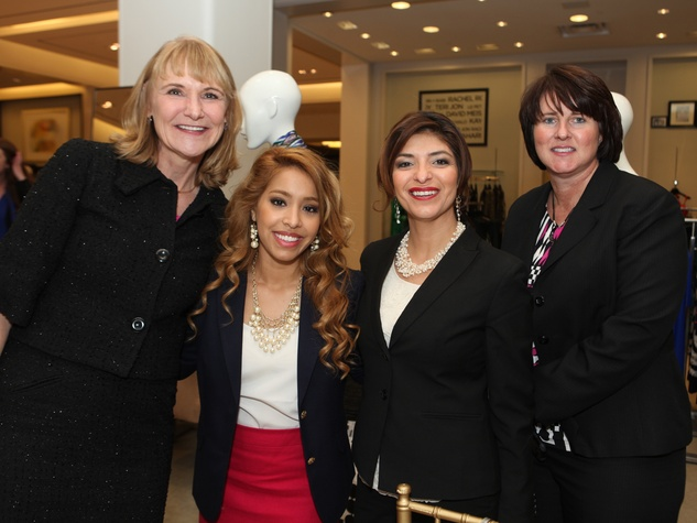 12 Meg Winchester, from left, Ivette Wilhelm, Christine Hopkins and Melody Smith at the Galveston Mardi Gras gown preview January 2014
