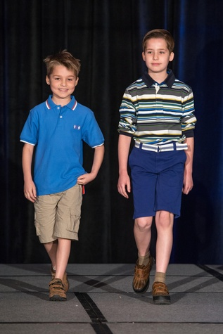 409 Caleb Cook, left, and Zachary Cook at the Boys & Girls Harbor Fashion Show April 2015