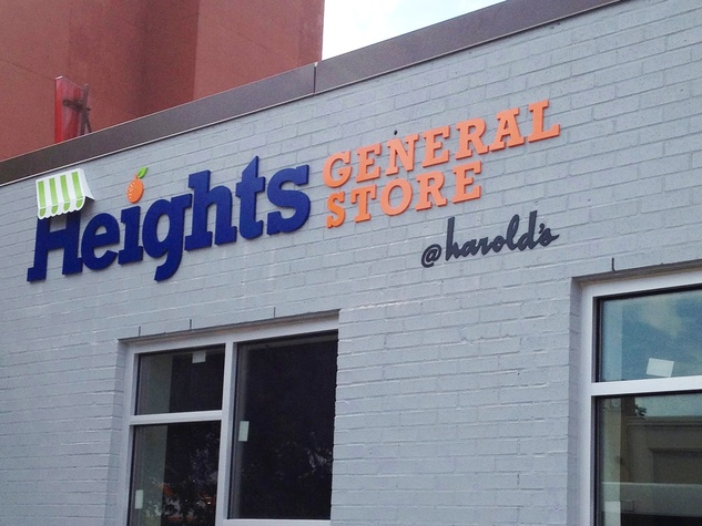 Heights General Store sign outside