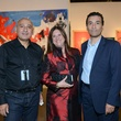 17 Khaled Hafez, from left, Deborah Colton and Omar Donia at the HFAF 2014 Opening Night September 2014
