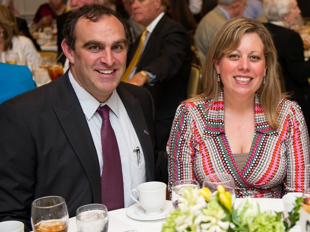 Nellis and Taylor Willhite at the Christus Health luncheon March 2014