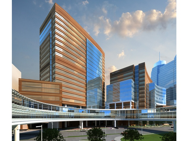 Texas Children's Hospital new tower proposed Artistic illustration Bates Street view January 2015