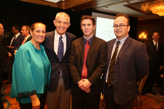 Linda and Jim McIngvale, from left, Daniel Timms and John F. Fraser at the Bud Frazier event May 2014