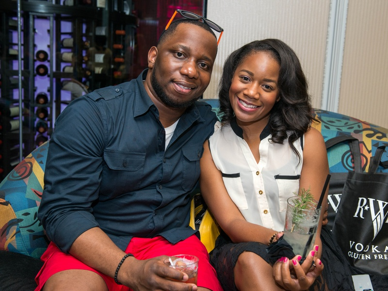 16 Ikenna Ogu and Krystal Butler at the Crafted mixology contest at Mr. Peeples July 2014