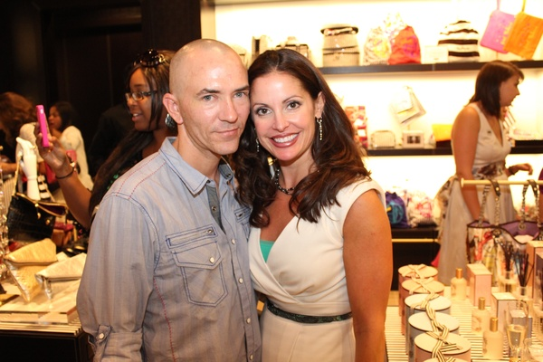 Henri Bendel Opening, Eric Chayney, Terry Everett, June 2012