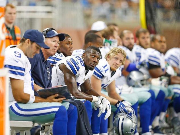 Dallas Cowboys sidelines