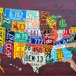 US map made of license plates
