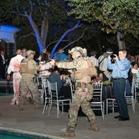 Houston, HPD True Blue Gala, Oct. 2016, SWAT and zombies