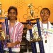 Spelling Bee champions, March 2013, Shobha Dasari and Syamantak Payra