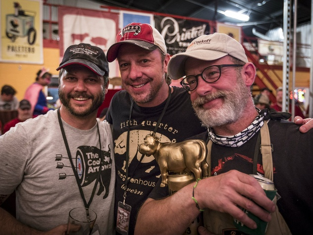 Chad Houser, Jeff Bergus, Brian Luscher at Meat Fight 2013