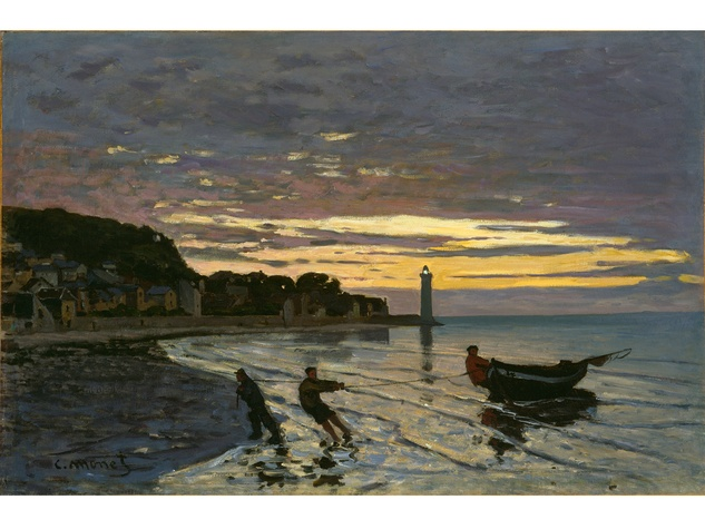 MFAH Monet and the Seine Impressions of a River October 2014 Claude Monet - Towing of a Boat, Honfleur