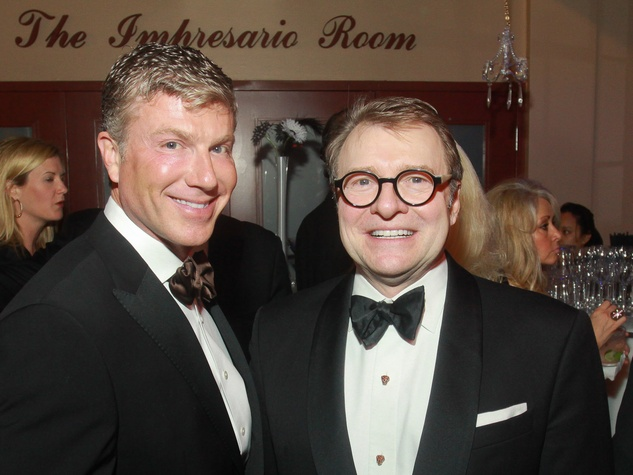 Stages Repertory Theatre gala, April 2013, Randy Powers, left, and Bill Caudell