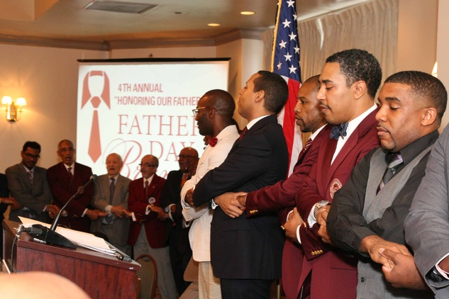 News, Shelby, Morehouse College Father's Day event, June 2015, college song