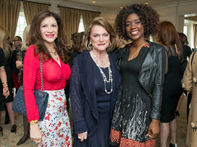 3 Alex Blair, from left, Beth Wolff and Yekcira Burnom at the Passion for Fashion luncheon March