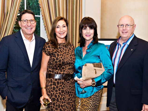 Scott and Soraya McClelland, from left, with Jamie and Theresa Hildreth at the Friends for Life Gala October 2013