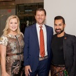 Ginger Baldwin, Bill Baldwin, Fady Armanious at Heart of Fashion kickoff party