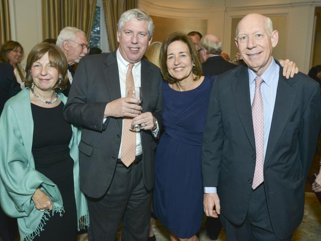 0011, Woodrow Wilson Awards dinner, March 2013, Barbara Harms, Wayne Harms, Andrea White, Bill White
