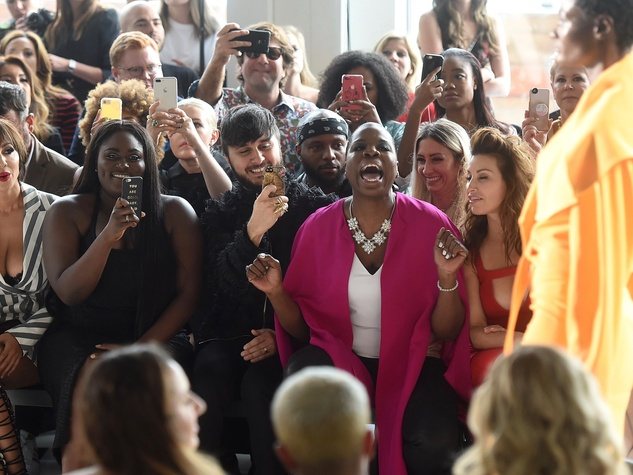 Leslie Jones couldn't hide her excitement during NYFW!