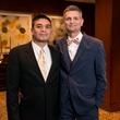 Vincent Sanchez, left, and Christopher Denman at the Crisis Intervention Gala April 2014