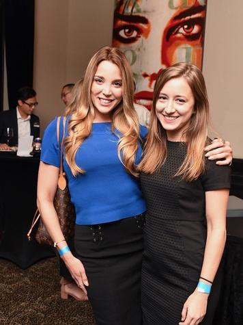 Ashley Silver, Rachel Warner at YHHCC Fall Mixer