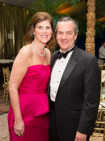 Gina and Mark Metts at the Houston Grand Opera Opening Night celebration October 2013