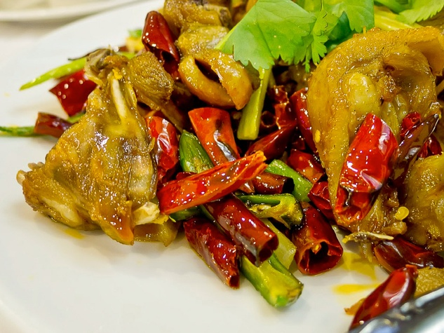 Mala Sichuan Bistro dish with red peppers