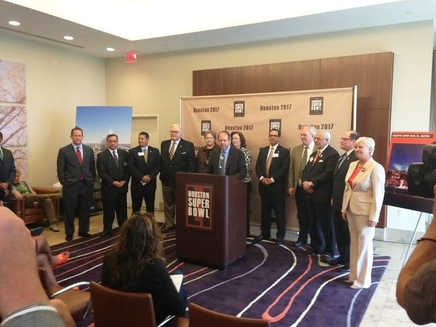 Ric Campo and Super Bowl bid committee May 22, 2013