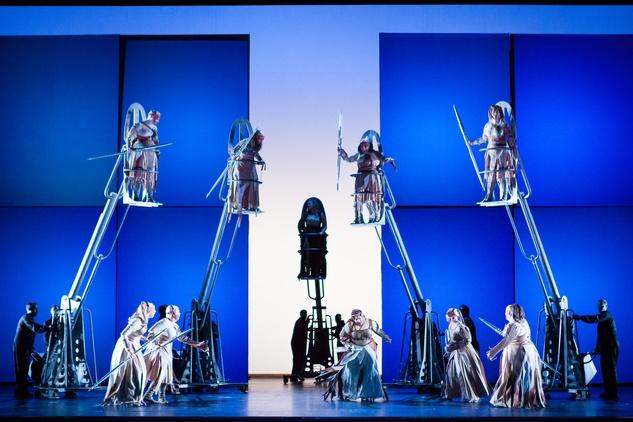 Scene from Houston Grand Opera production of Die Walkure