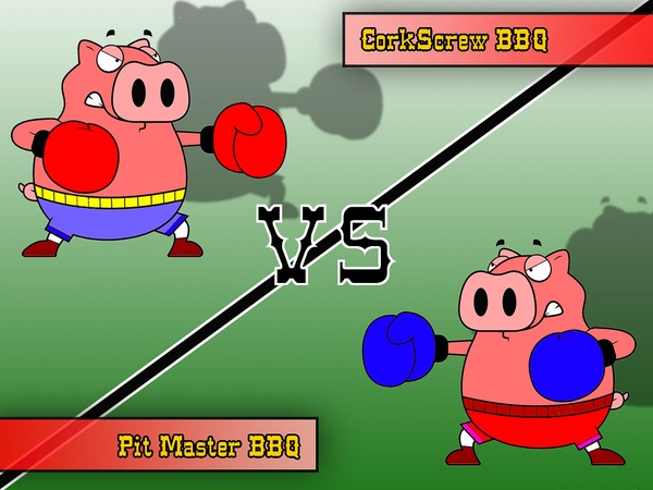 barbecue fight, pigs, Pit Master, Corkscrew