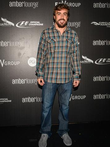 Fernando Alonso Amber Lounge F1 Austin