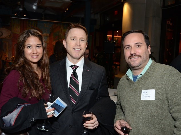 1 Shannon Drehner, from left, Seth Gagliardi and Nate Tarlow at the Holocaust Museum Houston's Next Generation Young Professionals kickoff party November 2013