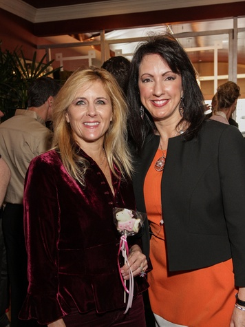 Michelle Mantor, left, and Alicia Smith at the Best Friends Brunch February 2014