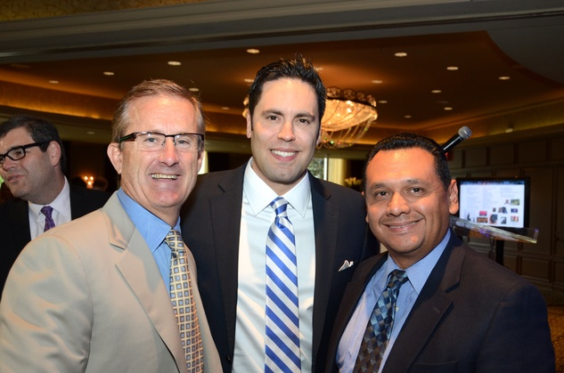 13 Tony Gracely, from left, Gabe Canales and Ed Gonzalez at the inaugural Blue Cure luncheon and lecture