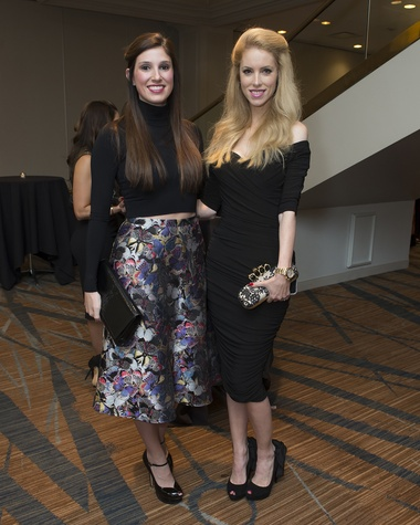 6836 Camille Connelly, left, and Kate Prueher at Una Notte in Italia November 2014