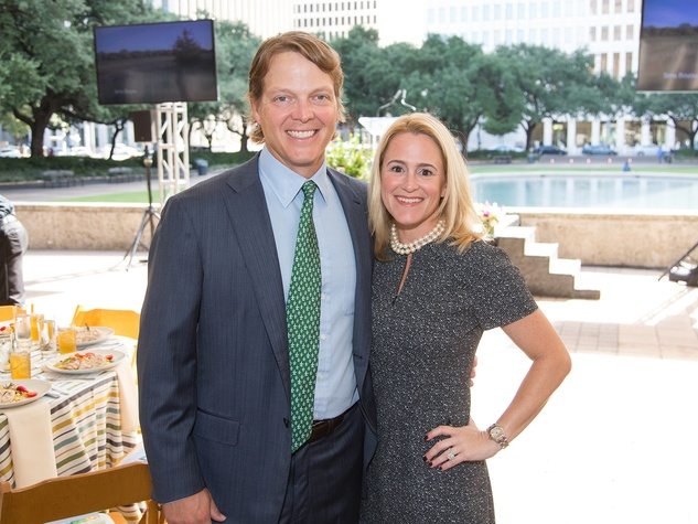 Houston Parks Board luncheon chairs David Kinder and Mary Louise Kinder