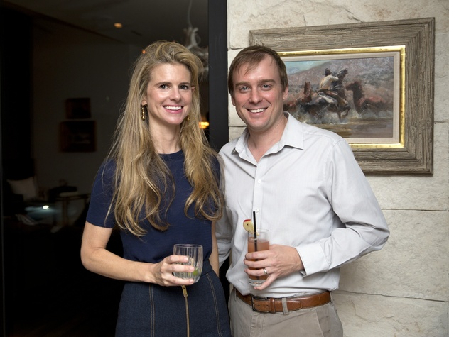 Houston, Casa Dragones launch party, October 2015, Blakely and Trey Griggs