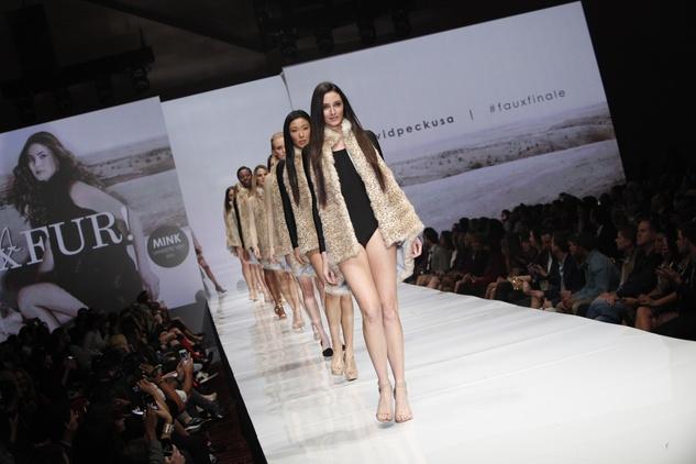 David Peck faux furs at Fashion Houston