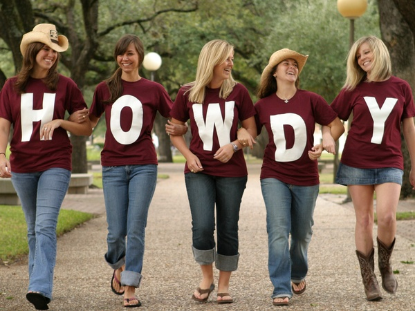 Texas A&M University, students, Howdy
