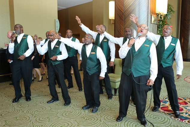 6 Members of the Salvation Army Harbor Light Choir at the Holocaust Museum Moral Courage Award dinner June 2014